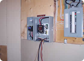 Automatic transfer switch hook up